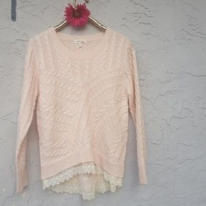 🎈2/$25 Monteau cable lace sweater🎈